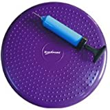 SUESPORT Air Inflated Stability Wobble Cushion, Balance Disc, Twist Massage, Fitness and Exercise, Pump Included