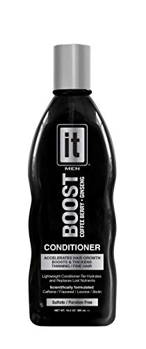 BOOST IT Conditioner for Men, 10.2oz | Infused with Biotin & Ginseng | Instant Hair Growth | Thickens Thinning & Fine Hair | Instant Hydration & Moisture Locking | Repair & Restore Damaged, Dry Hair