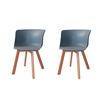 Ventamueblesonline Pack 2 SILLONES Winter Wood Grises ...