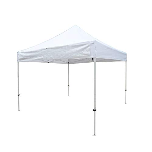 Formosa Covers 10ftx10ft Replacement Canopy with one Detachable Sign Display Panel in White Top Only