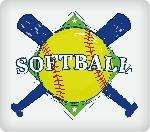 Softball Edible Icing Image (1/4 Sheet)