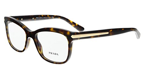 Prada Unisex 0PR 10RV Havana One - Shapes Frame Names Glasses Of