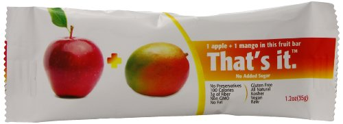 That's it. Apple + Mango Fruit 1.2 0z Bars 12-Pack
