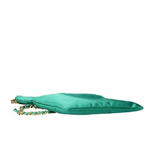VIRGINIA'S SECRET borsa pochette donna verde raso AF186