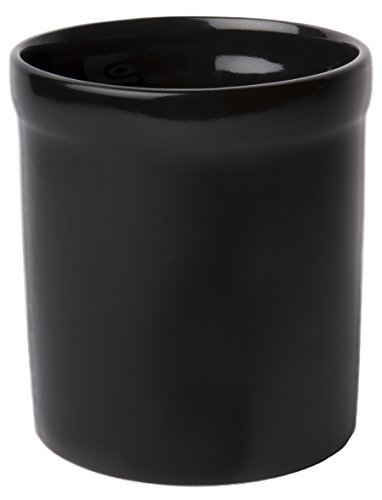 American Mug Pottery Ceramic Utensil Crock Utensil Holder, Made in USA, Black