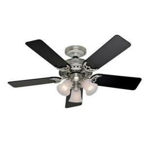 """UPC 049694013620, Factory-Reconditioned Hunter HR21362 46"""" Brushed Nickel Ceiling Fan with Light"""