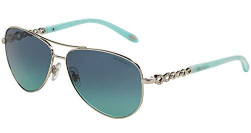 Tiffany TF3049B 6001-9S Silver TF3049B Pilot Sunglasses Lens Category 2 Size ()