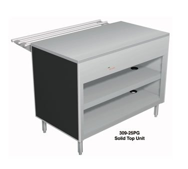 "Duke 46"" Solid Top Utility Counter w/ 2-Shelves All Stainless 309-25SS"