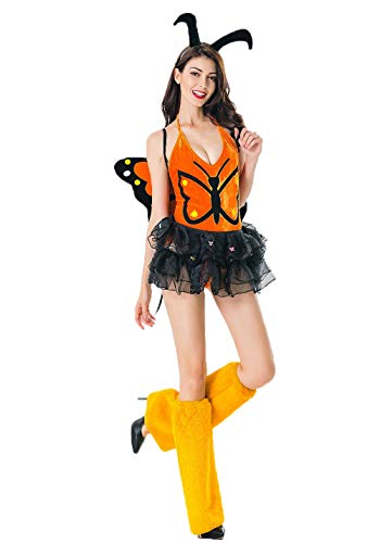 Butterfly Costume Women - New Yellow Caterpillar Flower Butterfly Costume Animal Elf Installation Stage -