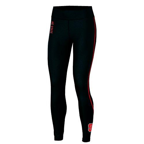NCAA North Carolina State Wolfpack Adult Women Fashion Fit Fitness Leggi, Medium, Black -