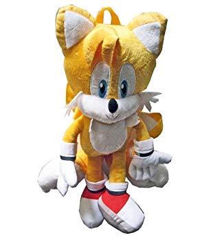 Sonic The Hedgehog Tails Plush Doll Bag Custume Backpack -