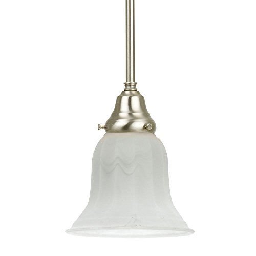 Mini-Pendant with Alabaster Glass Shade (Adapter Slope Satin)