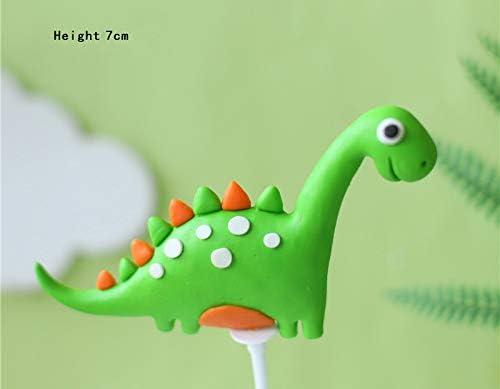 13 piezas de dinosaurio 3D decoraci/ón de pastel para magdalenas decoraci/ón de tartas para ni/ños cumplea/ños beb/é Showr fiesta suministros