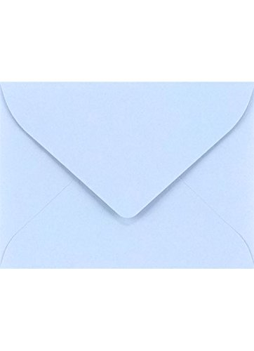 #17 Mini Gift Card Envelopes (2 11/16 x 3 11/16) - Baby Blue (50 Qty.) | Perfect for the Holidays, Holding Place Cards, Gift Cards, Notes, and Flower Arrangement Cards |EXLEVC-13-50