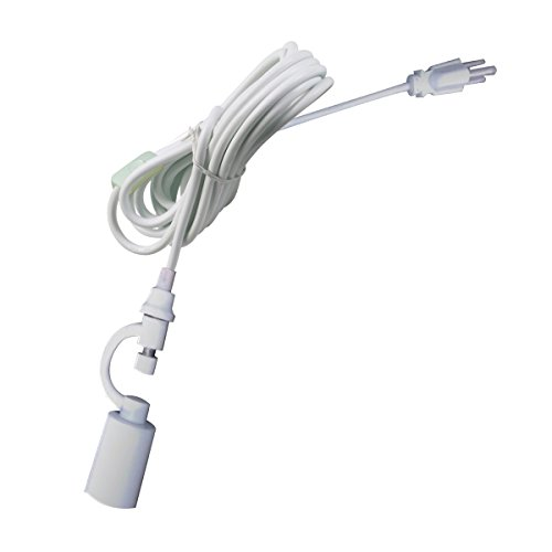 Plug in Swag Pendant Conversion Kit White- Turn any Lampshade into a Hanging Swag Lamp in Seconds - Perfect for Apartments, dorms - No Wiring Needed (Hanging Pendant Swag Lamp)