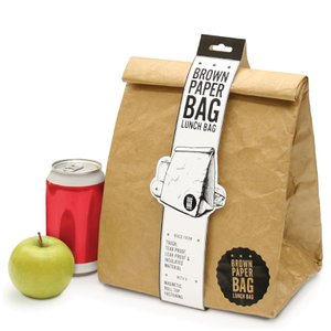 Brown Paper Bag Insulated Lunch Bag - With a magnetic fastening, insulating design and sturdy leak resistant material you can be sure your food will stay the right temperature for longer whilst remaining safely in the bag Luckies of London