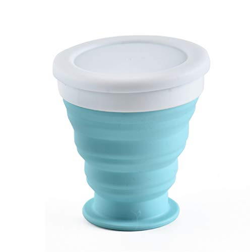Frog Fun Best.Sellers | Portable Silicone Telescopic Drinking Collapsible Folding Cup Travel Camping (Blue)