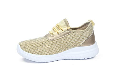 752086a6261c Kids Athletic Tennis Shoes - Little Kid Sneakers with Girl and Boy Sizes  Gold Size 1