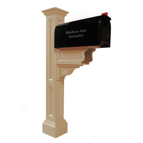 Plus Mailbox Post Clay - Mayne 5846-CL Charleston Plus Mailbox Post, Clay by Mayne