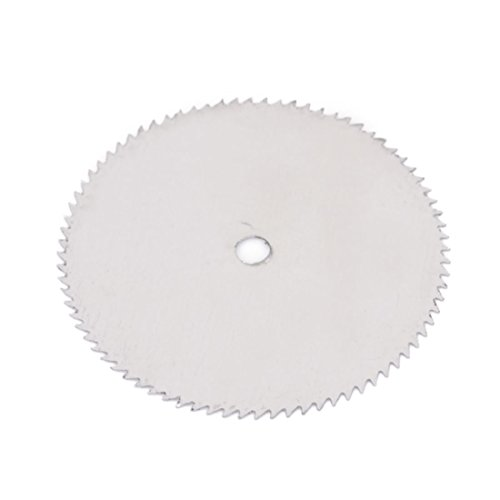 Silver Tone 25mm Dia 0.35mm Thickness Nitride Slitting Saw -
