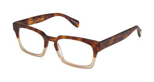 Lewis Street - Rectangular Trendy Fashion Reading Glasses for Men and Women - Toirtoise/Pale Gold (+1.50 Magnification Power) (Reading Scojo Street Glasses)