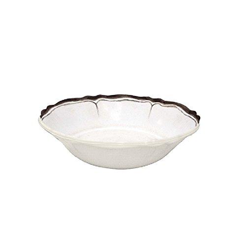 Le Cadeaux Rustica Antique Nero Cereal Bowl, White