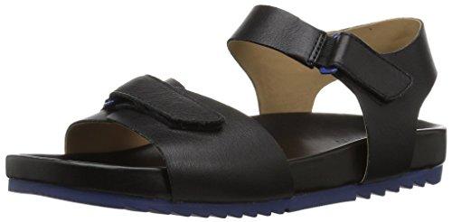 Naturalizer Women's Ari Flat Sandal, Black, 9 W US by Naturalizer