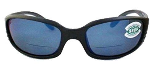 Costa Del Mar Brine C-Mates Sunglasses, Matte Black/Blue Mirror 580 - Brine Costa