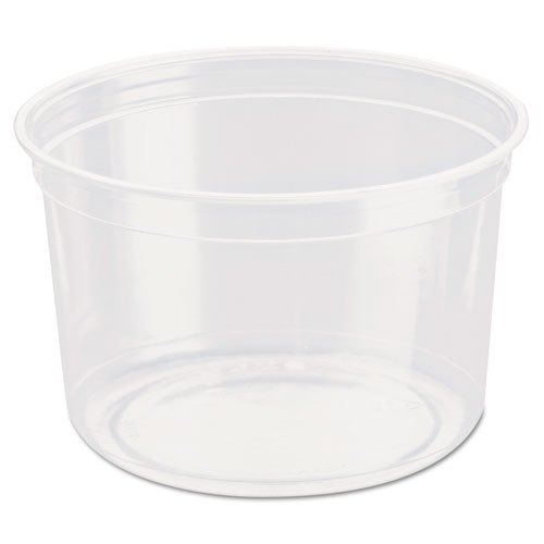 SOLO Cup Company Bare Eco-Forward RPET Deli Containers, 16 oz, Clear - Includes ten packs of 50 each.