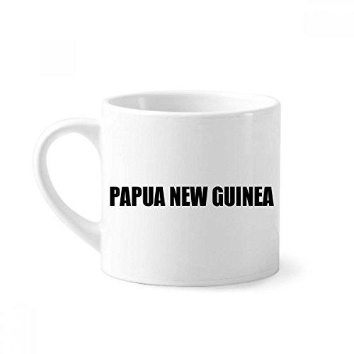 Papua New Guinea Name Black Mini Coffee Mug White Pottery Ceramic Cup With Handle 6oz Gift