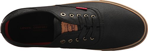 Levis Zapatos Hombres Monterey Ct Canvas / Gum Black