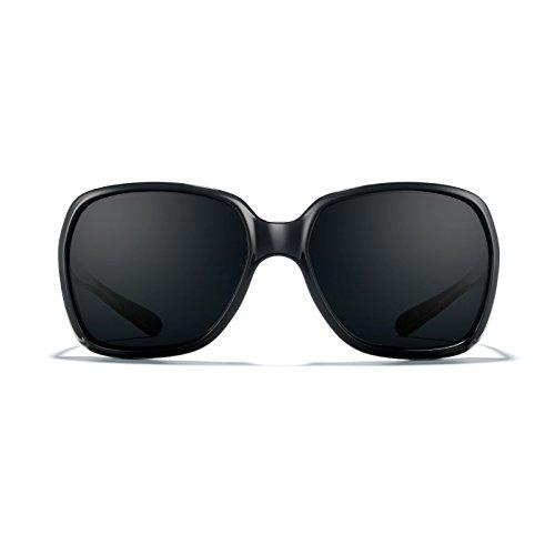 ROKA Monaco Performance Polarized Sunglasses for Men and Women Gloss Black Frame - Super Black (Polarized) - Sunglasses Monaco