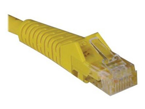 Tripp Lite Cat5e Cat5 Snagless Molded Patch Cable RJ45 M//M 10 ft yellow N001-010-YW patch cable