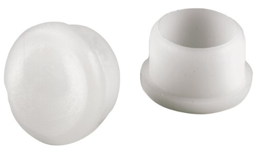 Shepherd Hardware 3011 Round Internal Patio Furniture Insert Tips 7/8-Inch, 4-Pack, White (Patio Furniture Feet For Glides)