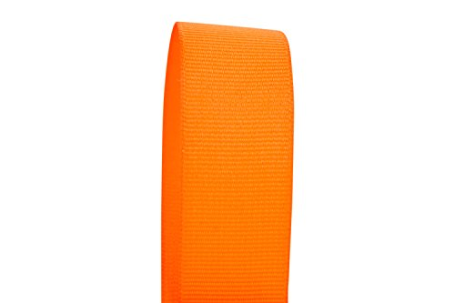 Ribbon Bazaar Solid Grosgrain Ribbon 5/8 inch Tangerine 5 Yards 100% Polyester