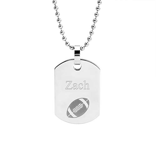- Eve's Addiction Stainless Steel Football Dog Tag