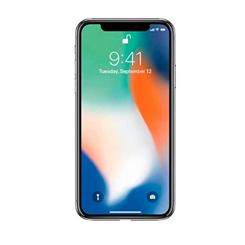Apple iPhone X, GSM Unlocked, 64GB - Silver (Renewed)