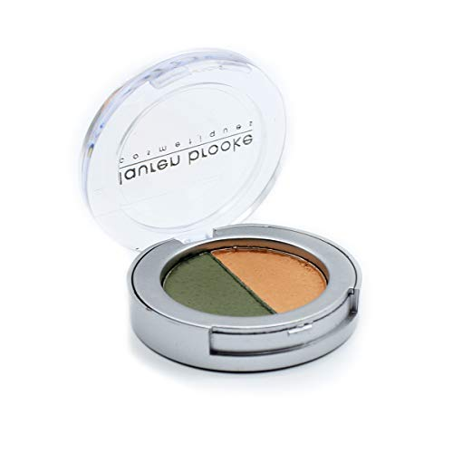 Lauren Brooke Cosmetiques Pressed Eyeshadow Duo Natural Organic Makeup Evergreen/Indian Summer