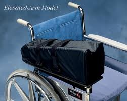 Wheelchair Mobile Arm Support Elevated, Left side or Right Side by 30 Degree Wheelchair Arm Support.  Choose left or right side under conditions.