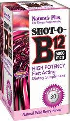 Nature's Plus - Shot-O-B12 5000 Mcg Lozenge 30