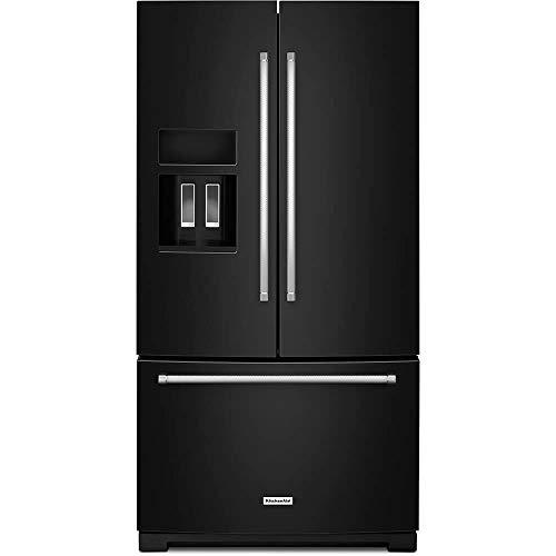 KitchenAid KRFF507HBL 26.8 Cu. Ft. Black French Door - Kitchenaid Refrigerator Black