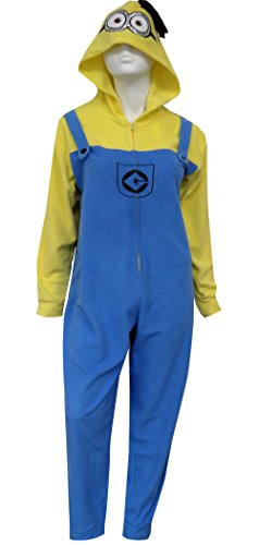 Despicable Me Minion Hooded One Piece Pajama for women (Despicable Me Onesie)