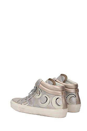 MDHDOM01 Philippe Model Sneakers Mujer Piel Plata Plata