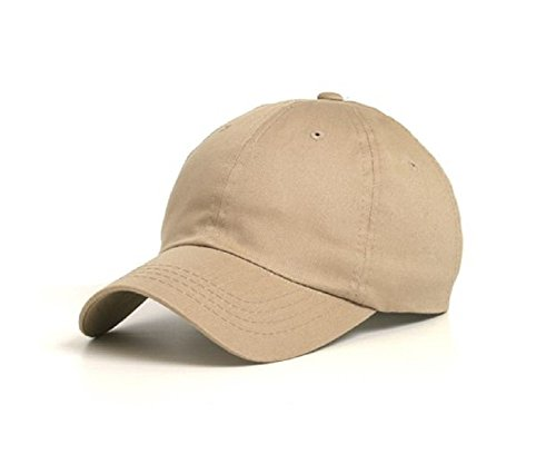 Wholesale Low Profile Dyed Soft Hand Feel Cotton Twill Caps Hats (Khaki) - 21203 (Hats For Wholesale)
