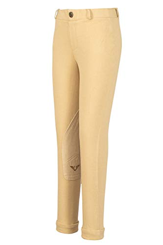 TuffRider Girl's Starter Lowrise Pull-On Jods Breech, Light Tan, ()