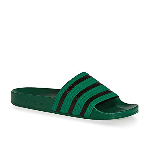 adidas Originals Adilette Sandals 6.5 B(M) US Women / 5.5 D(M) US Bold Green Core Black Bold Green