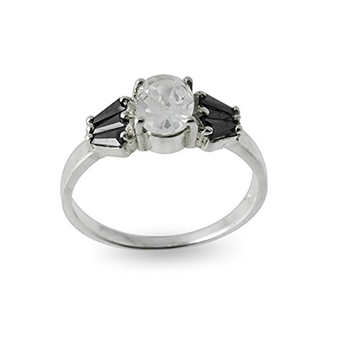 925 Sterling Silver with CZ Stone Fashionable Finger Ring Size O