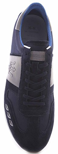 La Martina Zapatos Sneakers Hombre Maserati by L3095265 Camoscio Navy Bomber Blu