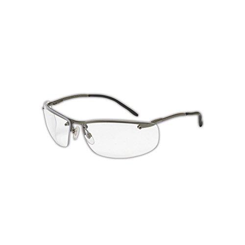 Honeywell S4110X Uvex Slate Protective Eyewear, Standard, Black/Gray -