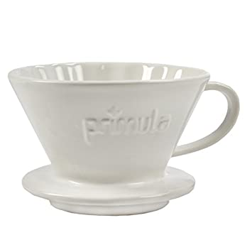 Primula Pour Over Coffee Maker For Light, Non-Bitter Coffee Drip Brewed Fits Most Mugs and Thermoses Easy to Use White